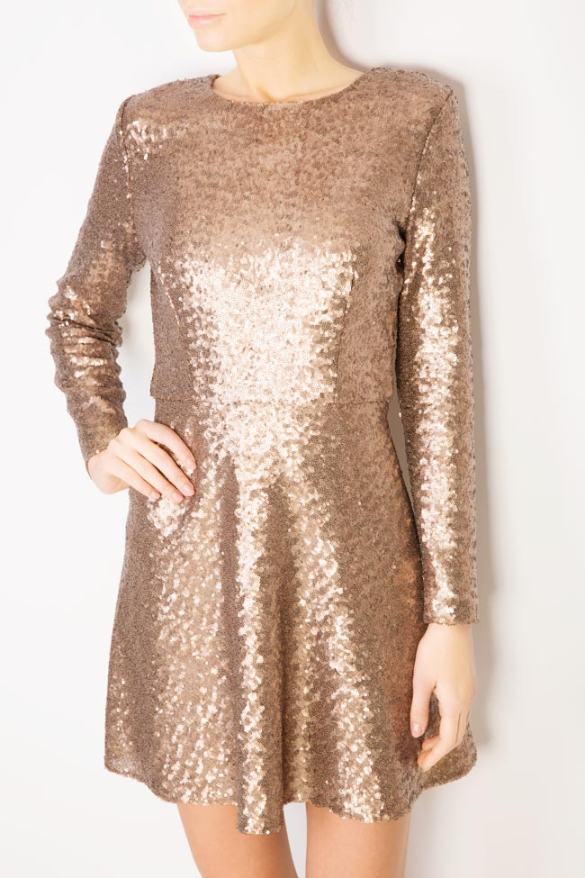 Sequined tulle mini dress Aureliana image 3