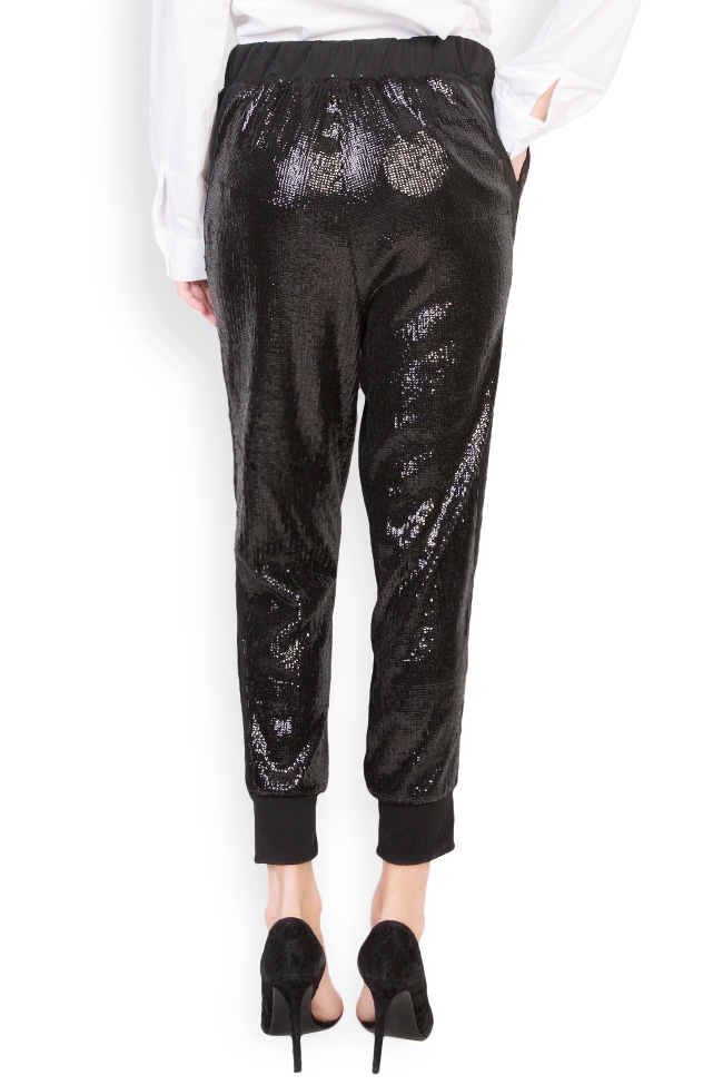 Sharm sequined cotton-mesh tapered pants Shakara image 2