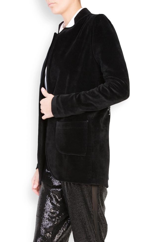 Veste en velours de coton brodé Osho Shakara image 1