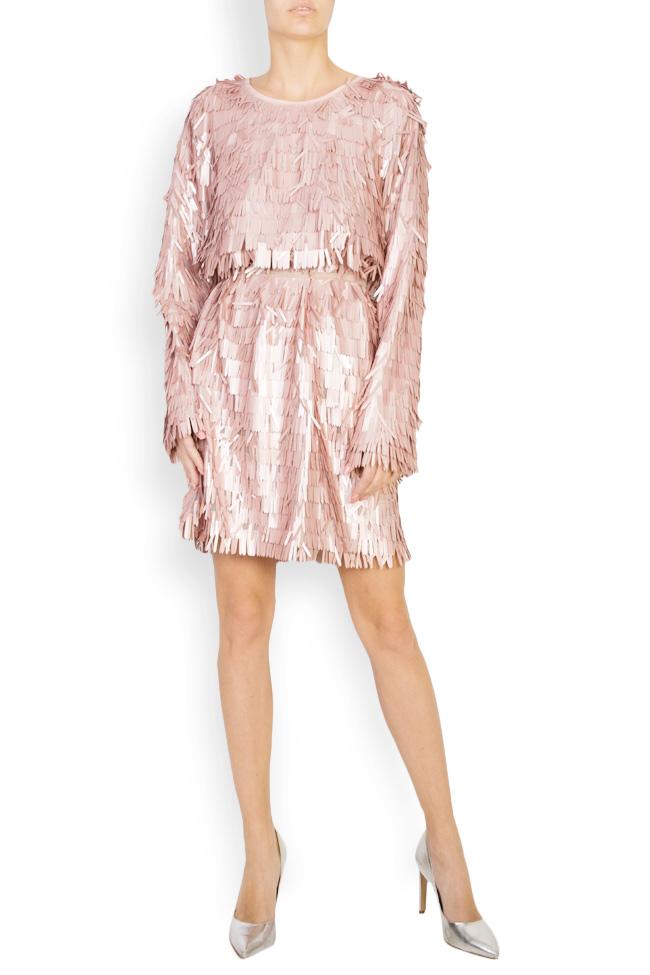Sequinned tulle mini dress Bluzat Cocktail image 0
