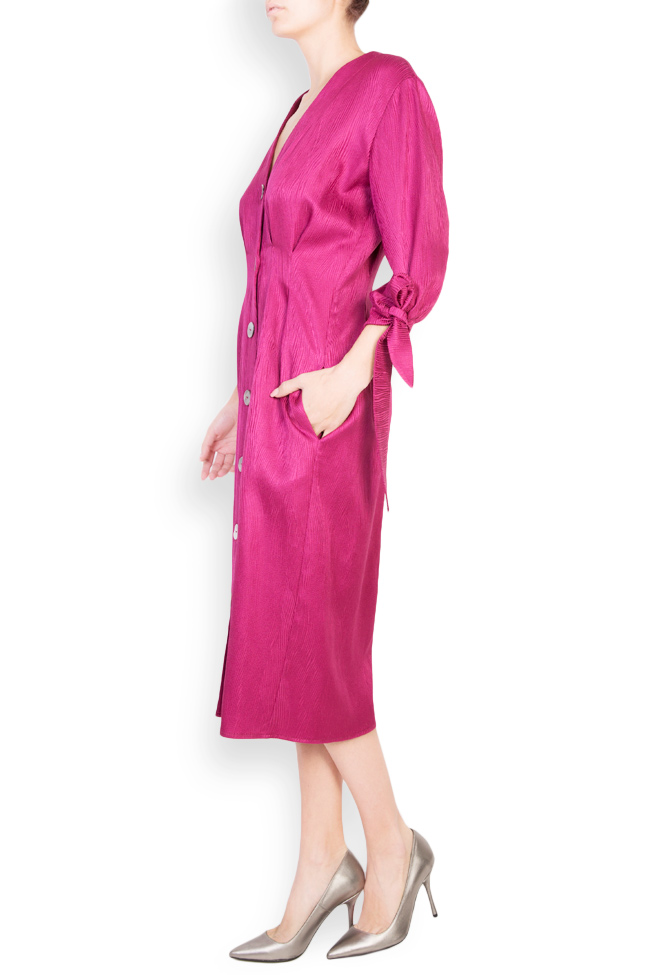 Satin cotton midi dress Bluzat image 1