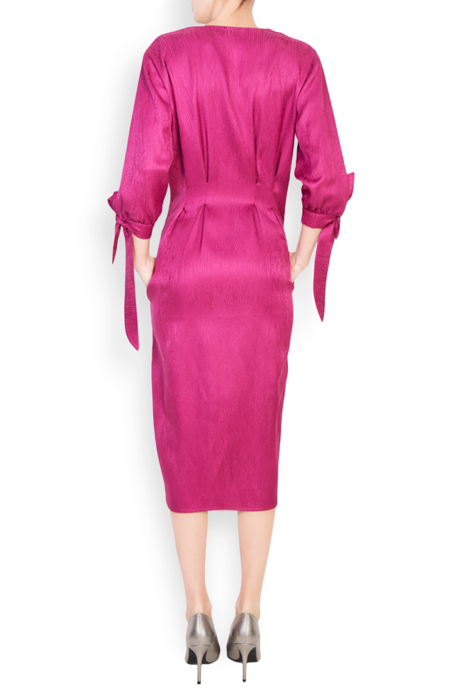 Satin cotton midi dress Bluzat image 2