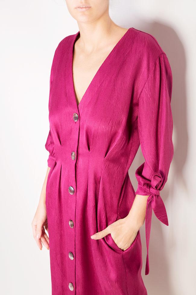 Satin cotton midi dress Bluzat image 3