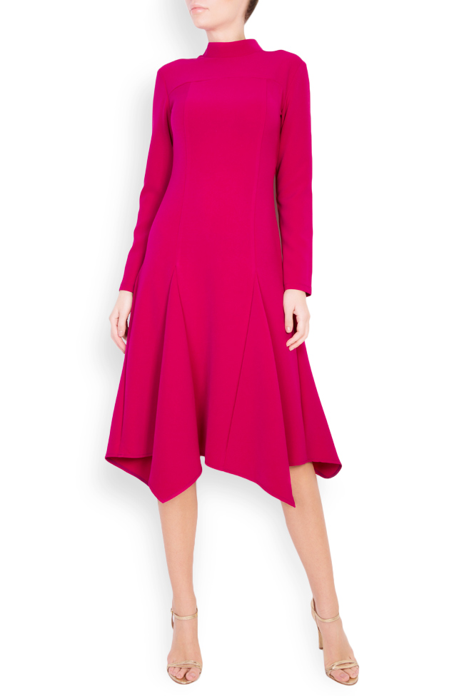 Asymmetric cotton crepe midi dress Bluzat image 0