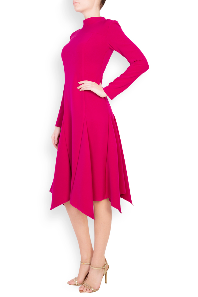 Asymmetric cotton crepe midi dress Bluzat image 1