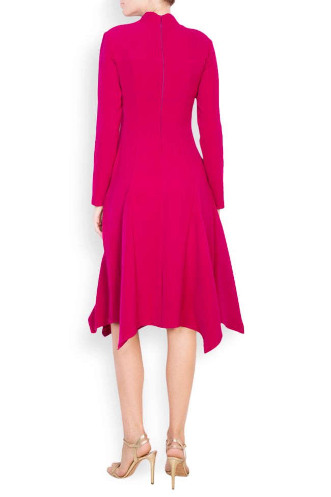 Asymmetric cotton crepe midi dress Bluzat image 2