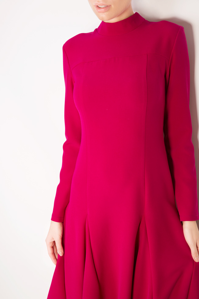 Asymmetric cotton crepe midi dress Bluzat image 3