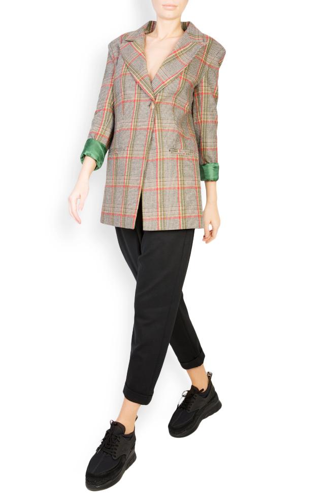 Checked wool-blend blazer Bluzat image 0