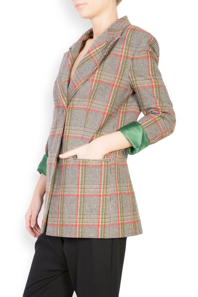 Checked wool-blend blazer Bluzat image 1
