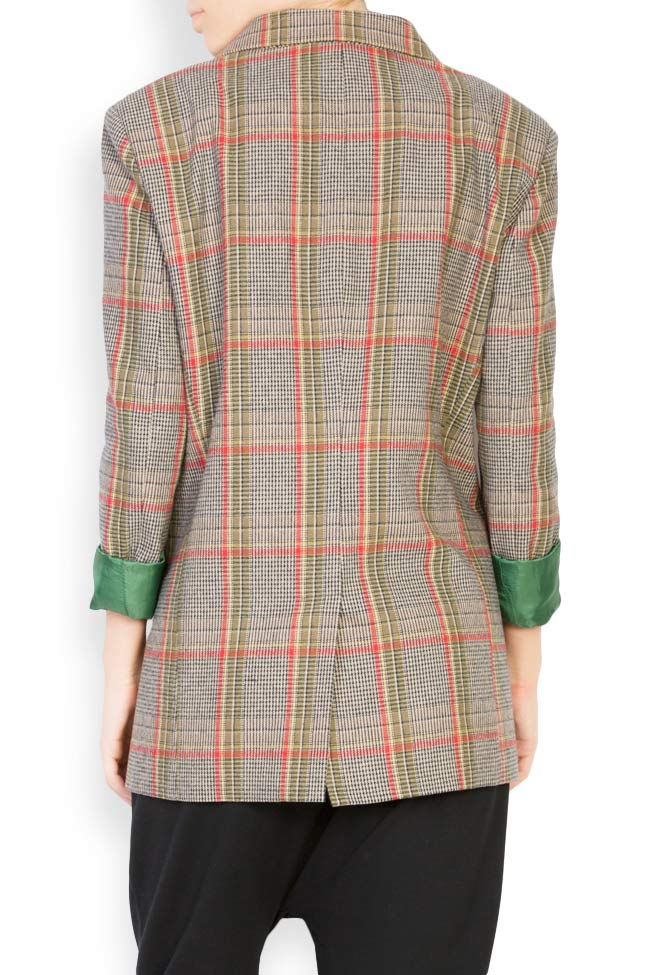 Checked wool-blend blazer Bluzat image 2