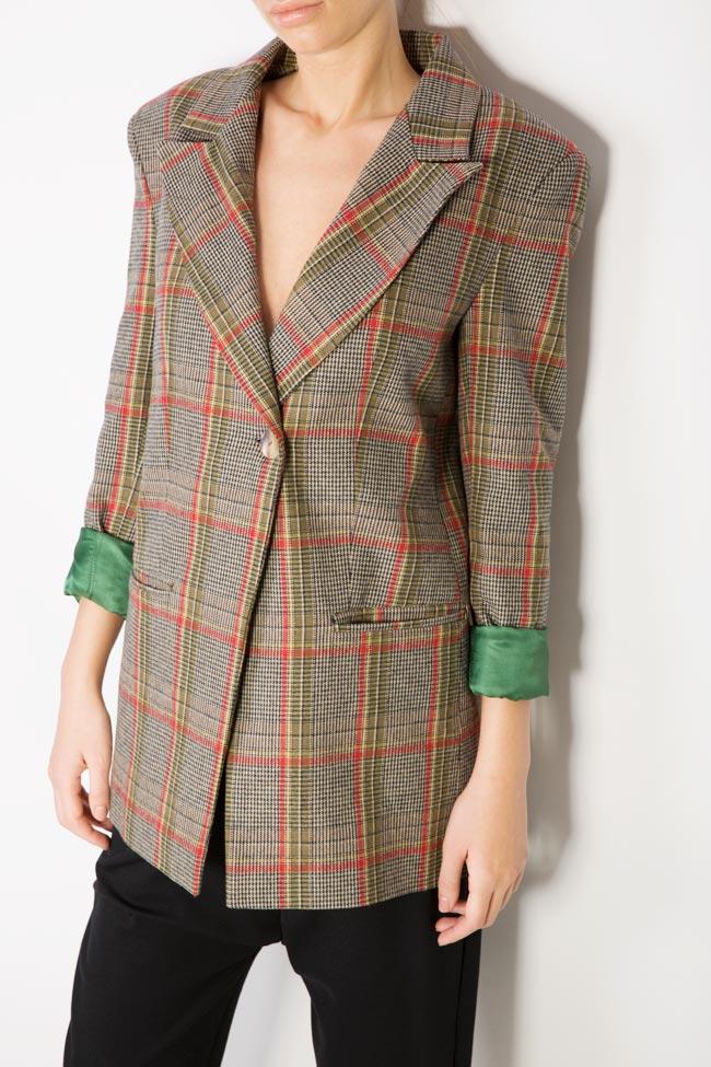 Sacou din amestec de lana Bluzat imagine 3