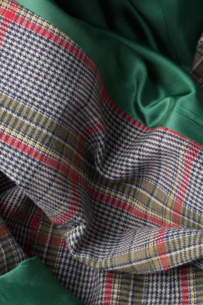 Sacou din amestec de lana Bluzat imagine 4