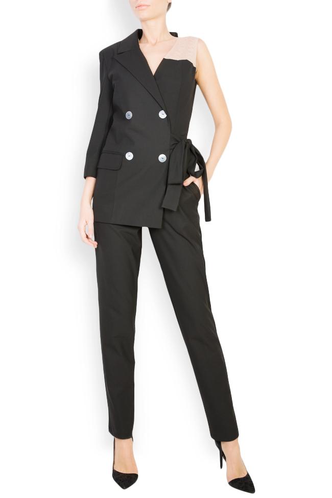 Asymmetric cotton-blend jumpsuit Bluzat image 0