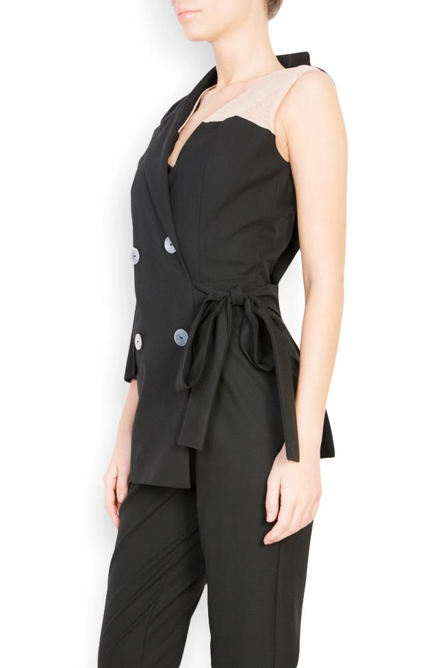 Asymmetric cotton-blend jumpsuit Bluzat image 1