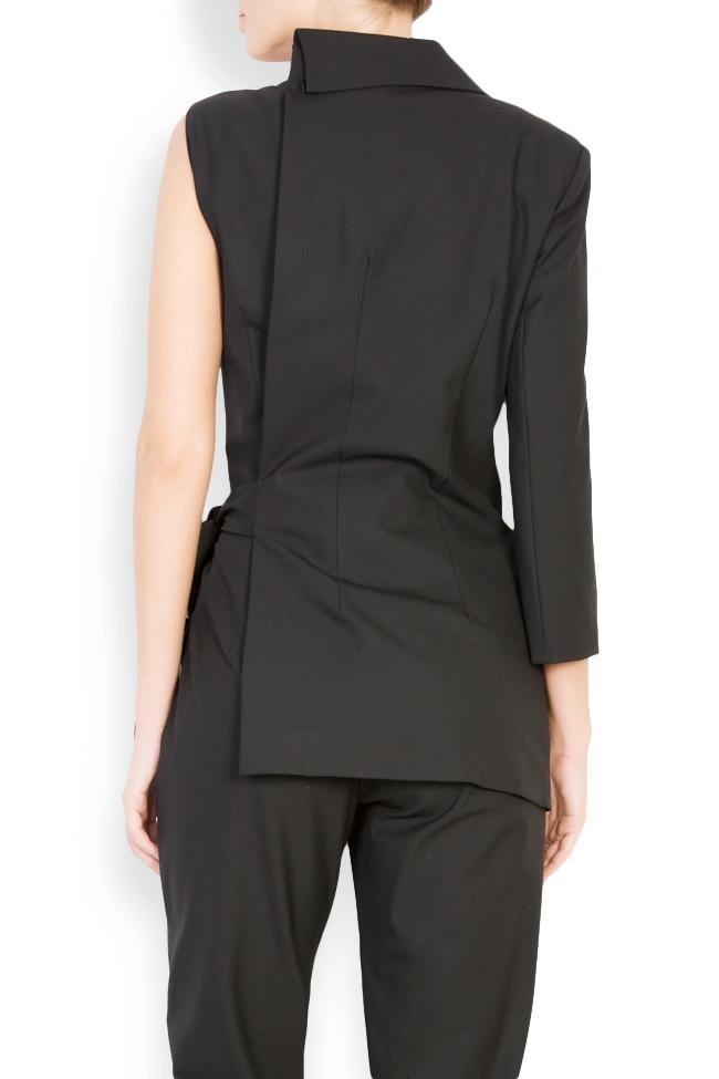 Asymmetric cotton-blend jumpsuit Bluzat image 2