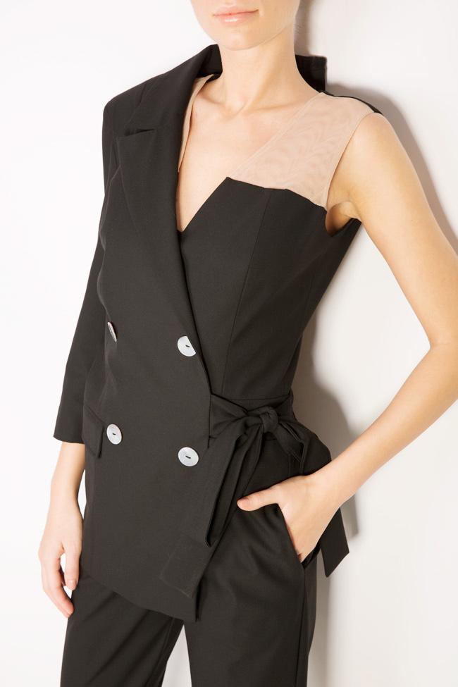 Asymmetric cotton-blend jumpsuit Bluzat image 3