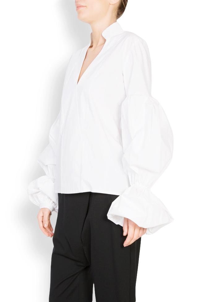 Bluza din bumbac poplin cu maneci bufante Bluzat imagine 1