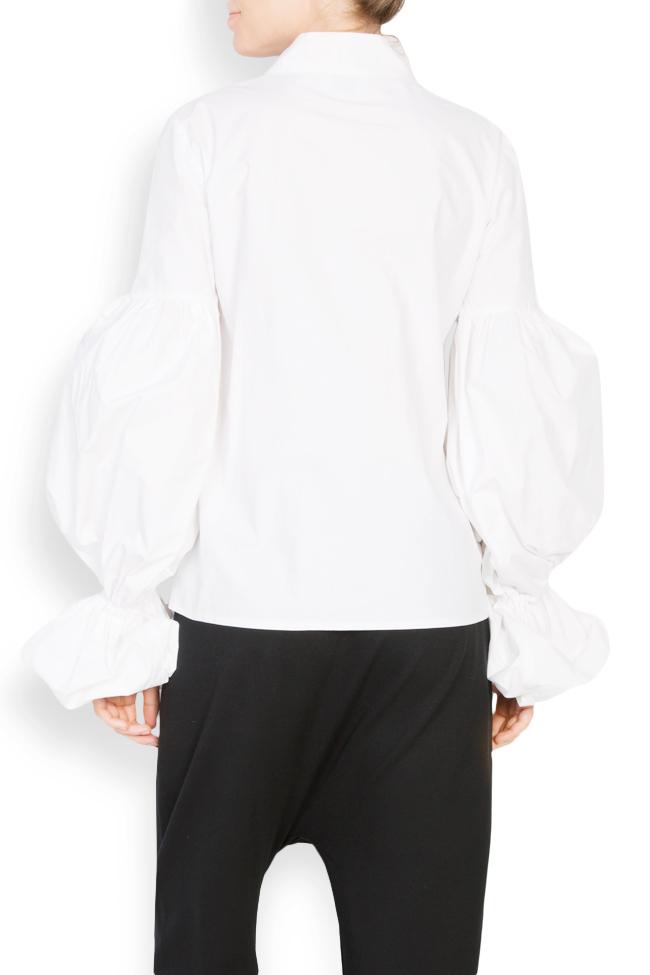 Bluza din bumbac poplin cu maneci bufante Bluzat imagine 2