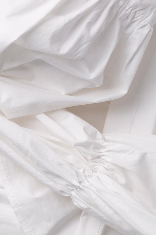 Bluza din bumbac poplin cu maneci bufante Bluzat imagine 4