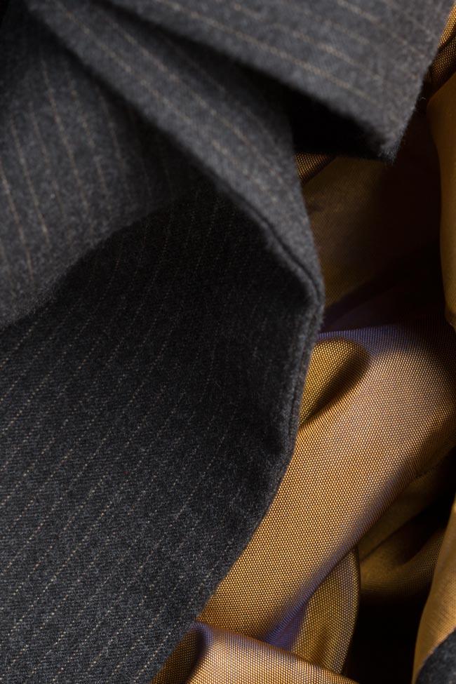 Sacou din lana cu esarfe Bluzat imagine 4