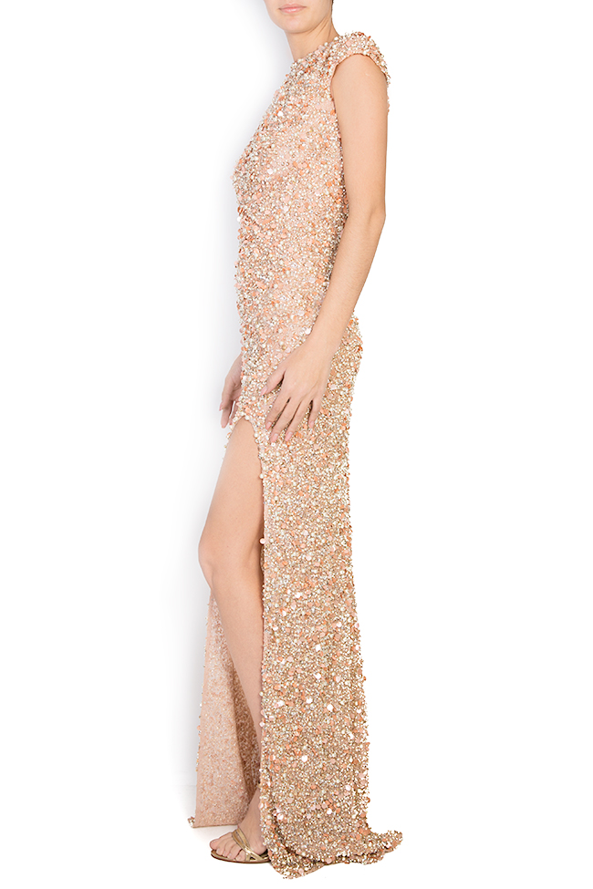 Crystal-embellished sequined tulle gown Atelier Maria Iftimoaie image 1