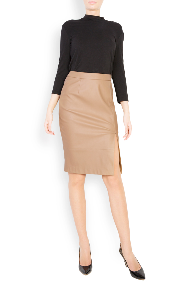 Faux leather midi skirt Acob a Porter image 0