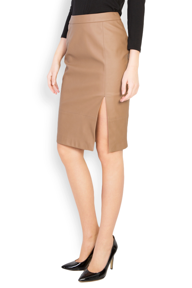 Faux leather midi skirt Acob a Porter image 1