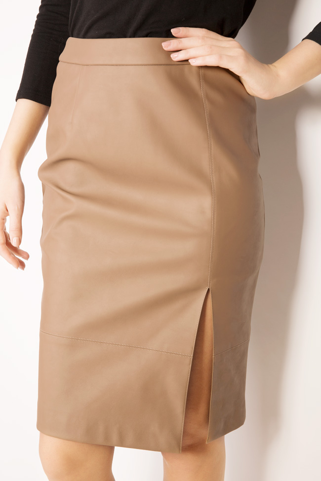 Faux leather midi skirt Acob a Porter image 3