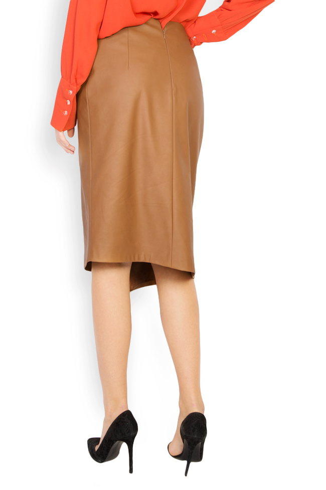 Wrap-effect faux leather skirt Acob a Porter image 2