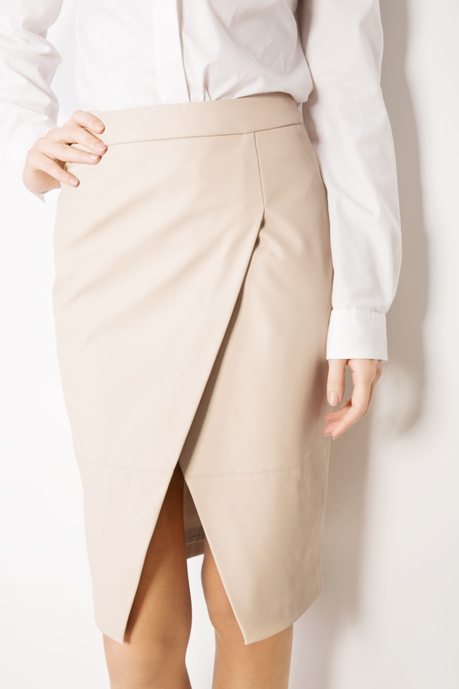 Faux leather midi pencil skirt Acob a Porter image 3