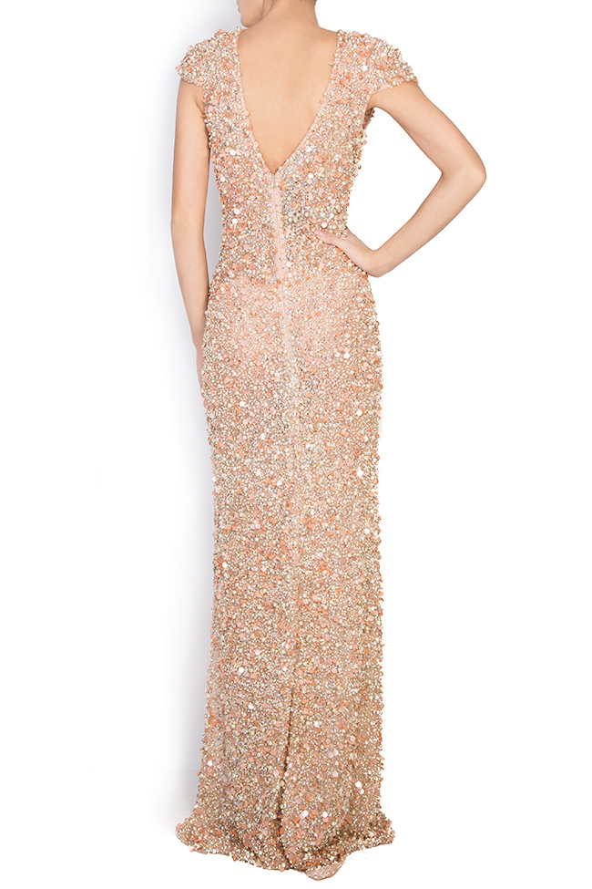 Crystal-embellished sequined tulle gown Atelier Maria Iftimoaie image 2