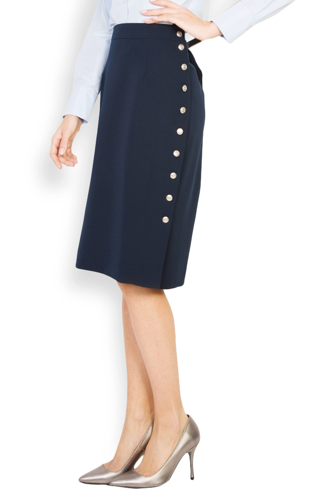 Button-embellished midi skirt Acob a Porter image 1