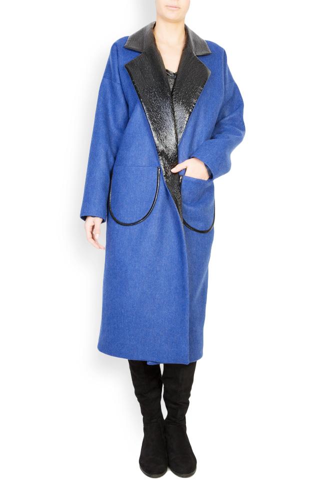Haina din amestec de lana si piele ecologica Lucia Olaru imagine 0