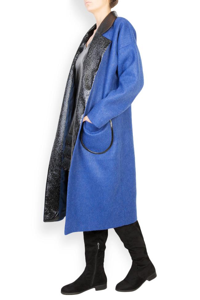 Haina din amestec de lana si piele ecologica Lucia Olaru imagine 1