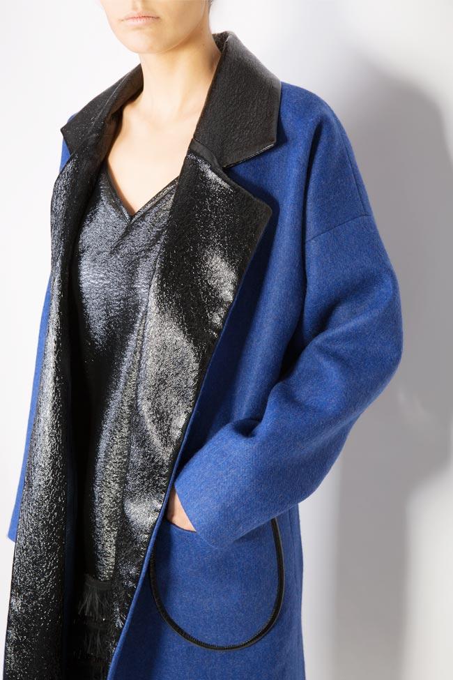 Haina din amestec de lana si piele ecologica Lucia Olaru imagine 3