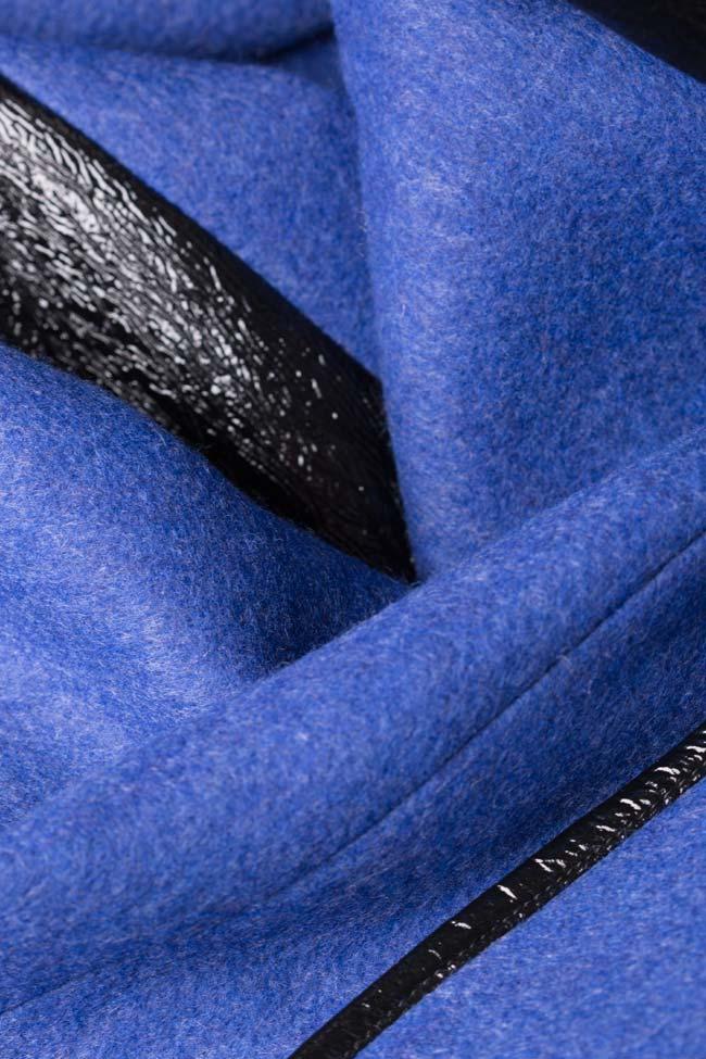 Haina din amestec de lana si piele ecologica Lucia Olaru imagine 4
