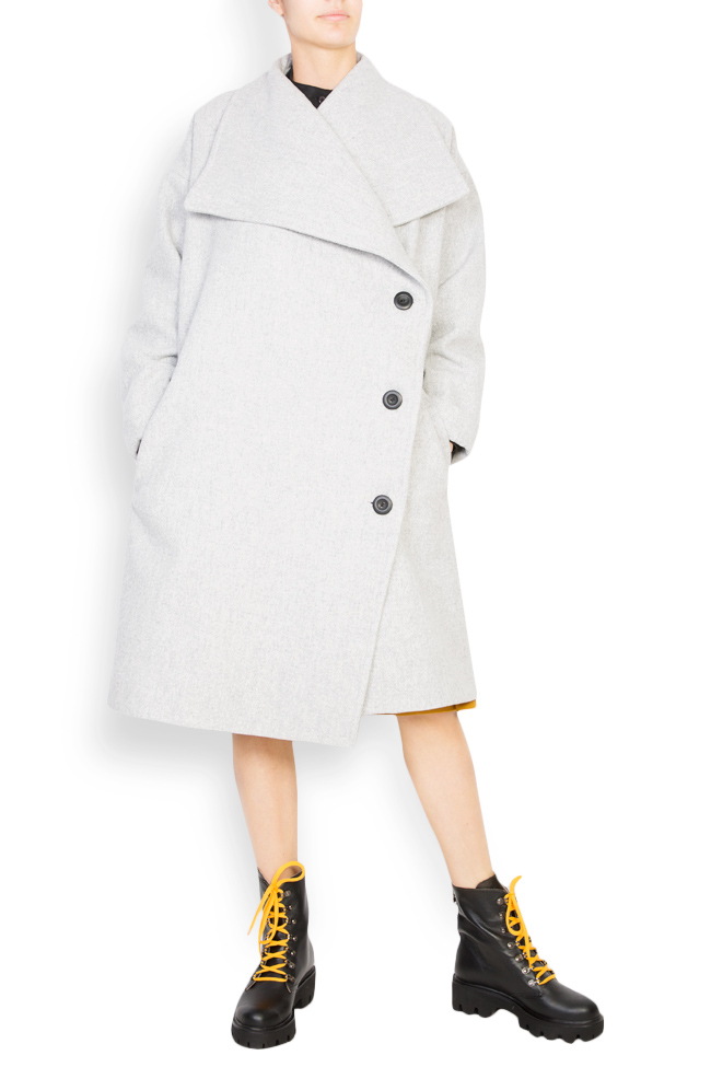Button embellished oversized wool coat Undress image 0