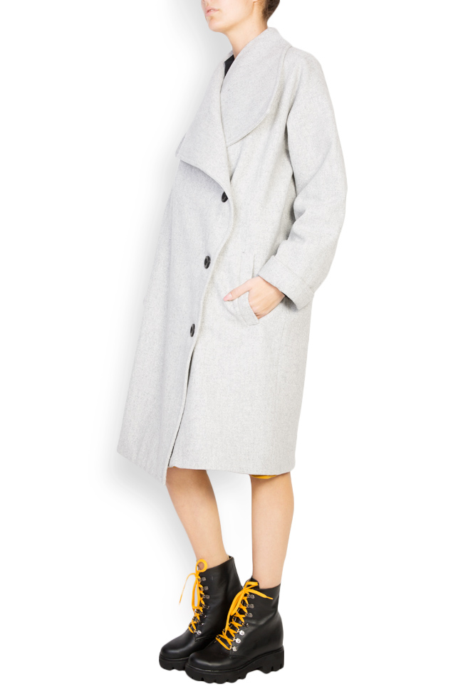 Button embellished oversized wool coat Undress image 1