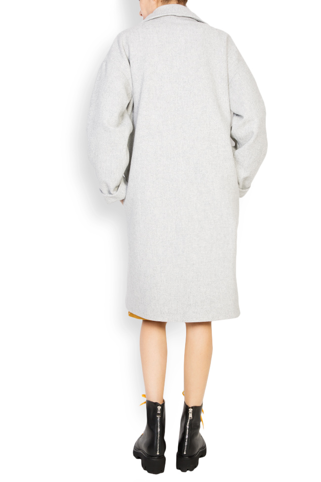 Button embellished oversized wool coat Undress image 2