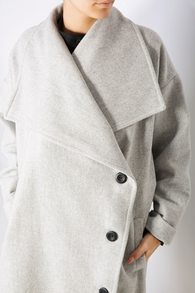 Button embellished oversized wool coat Undress image 3