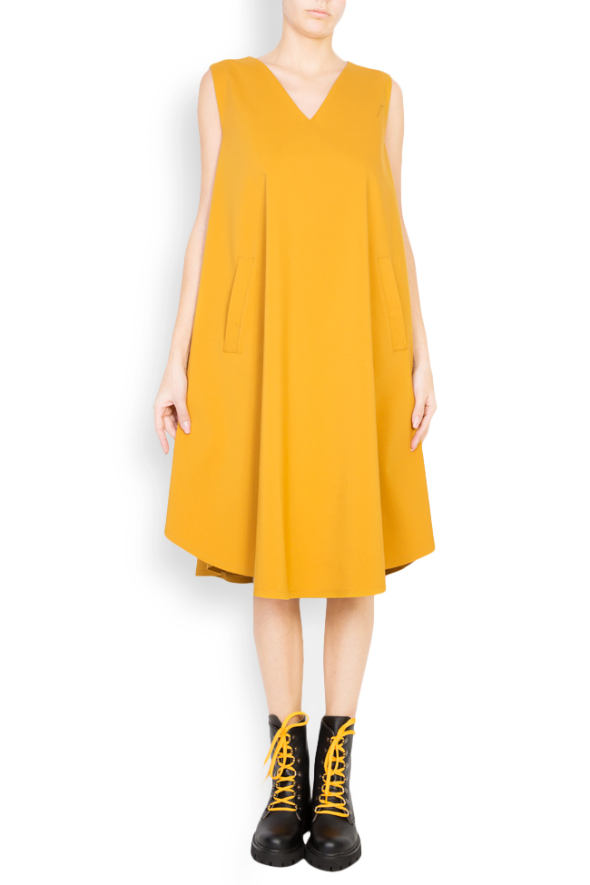 Cotton-blend oversized midi dress Undress image 0