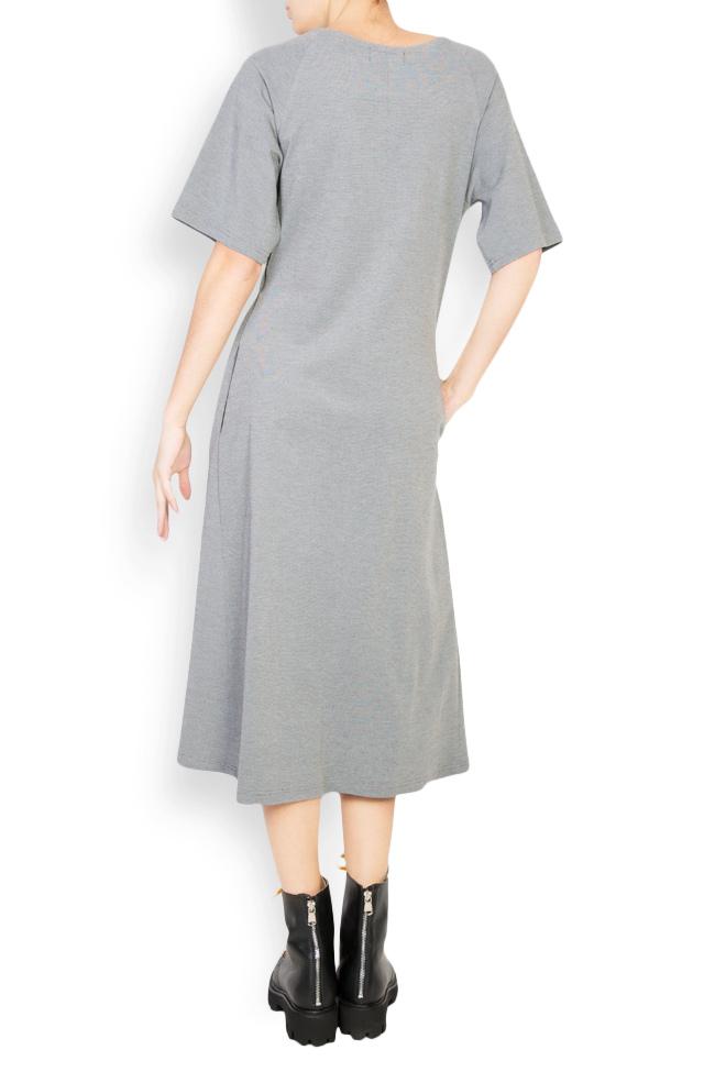 Rochie din crep cu elastic in talie Undress imagine 2