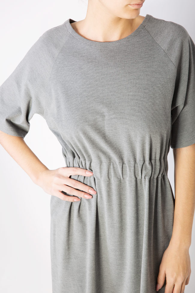 Rochie din crep cu elastic in talie Undress imagine 3