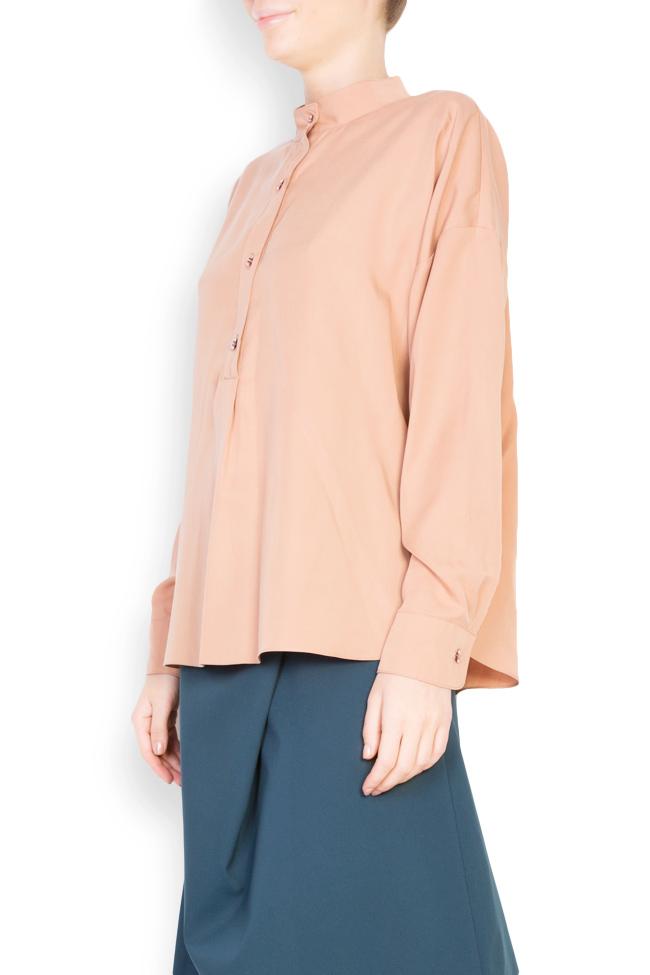 Button-embellished oversized crepe shirt Undress image 1