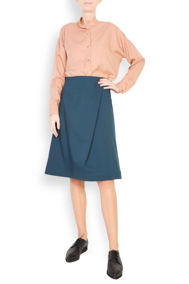 Button-embellished oversized crepe shirt Undress image 0