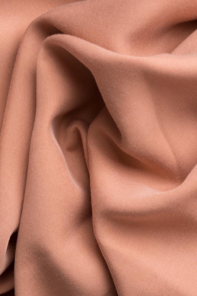 Button-embellished oversized crepe shirt Undress image 4