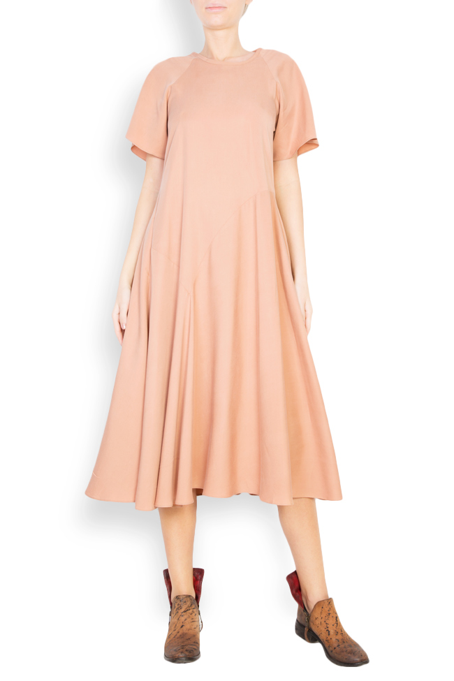 Flared crepe midi dress Undress image 0
