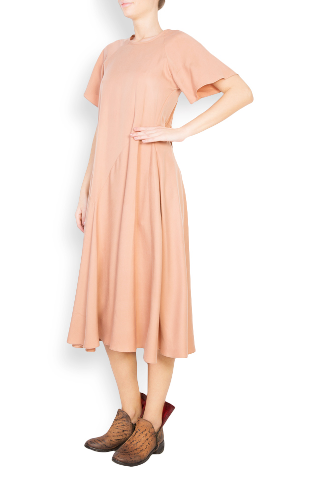 Flared crepe midi dress Undress image 1