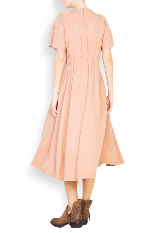 Flared crepe midi dress Undress image 2