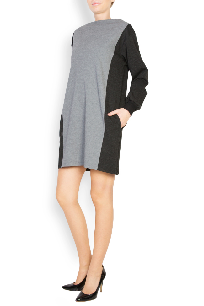 Two tones wool blend dress Undress image 1